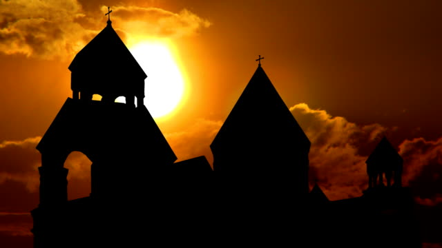 Armenia monastery of St.Echmiadzin sungliding video