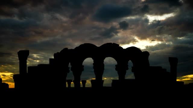 Armenia Zvartnots colourful sunset video