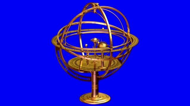 sfera armilarna - układ słoneczny filmów i materiałów b-roll