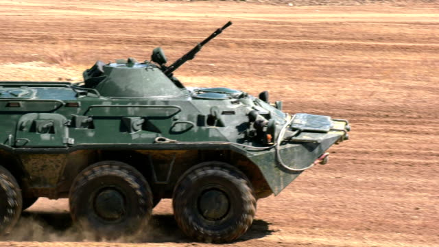 armored personnel carrier at full speed video