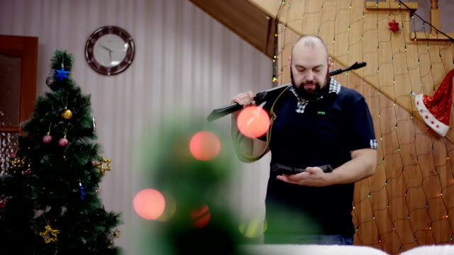 armory man coming to room at christmas time video