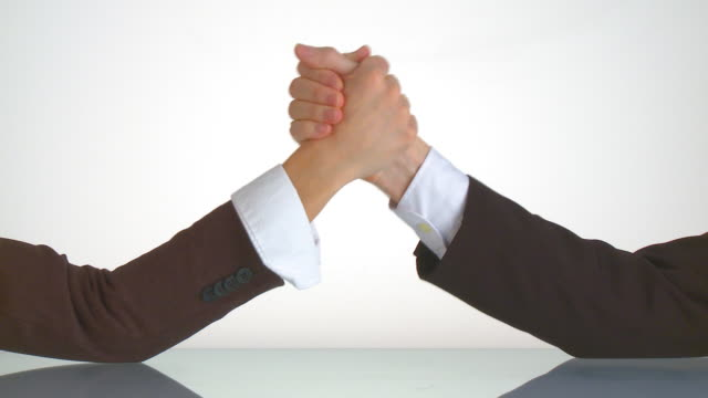 armwrestling between business people video