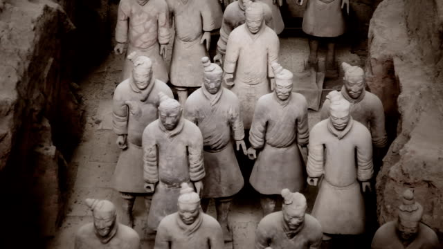 army of terracotta warriors, xi'an china - arkeologi bildbanksvideor och videomaterial från bakom kulisserna