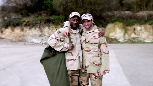 Army soldier leaving video