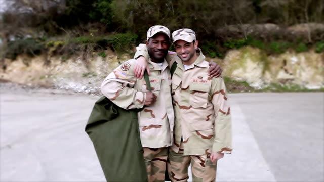 Military lifestyle stock videos