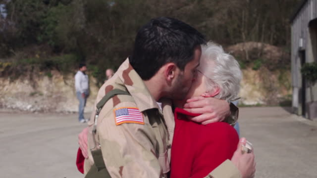 Army soldier returning home  homecoming stock videos & royalty-free footage