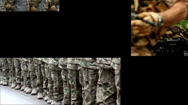 Army & Soldiers Montage Stock HD video clip footage of a Montage of Army video clips with Soldiers and Tanks homecoming stock videos & royalty-free footage