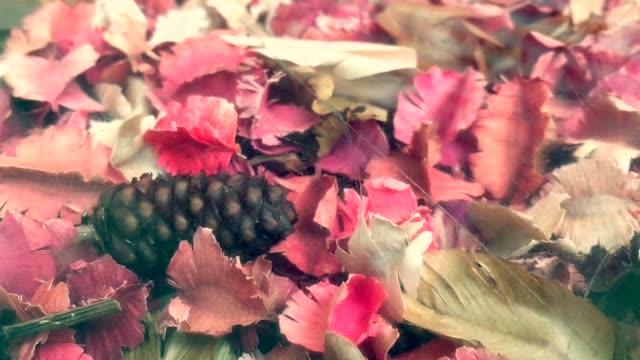 アロマテラピー ポプリまたは乾燥した花びらの花 - 薬草点の映像素材/bロール
