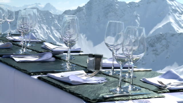 arosa a lovely shot of a restaurant in arosa chalet stock videos & royalty-free footage