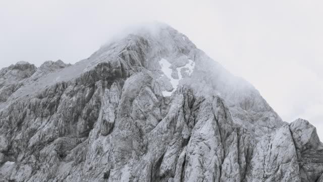 AERIAL Around a rugged mountain ridge video