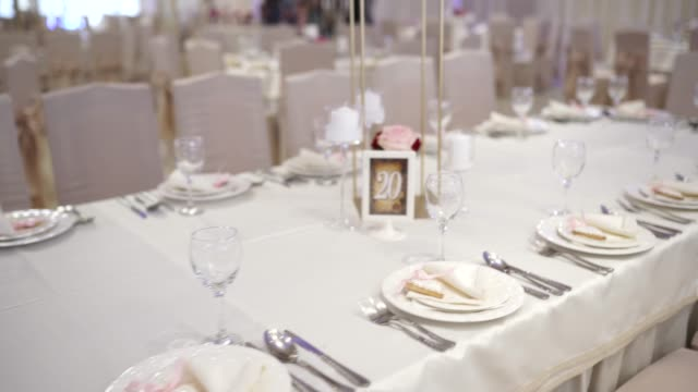 Arranged table for wedding ceremony