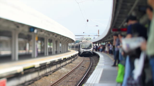 Arriving Train in Hong Kong video