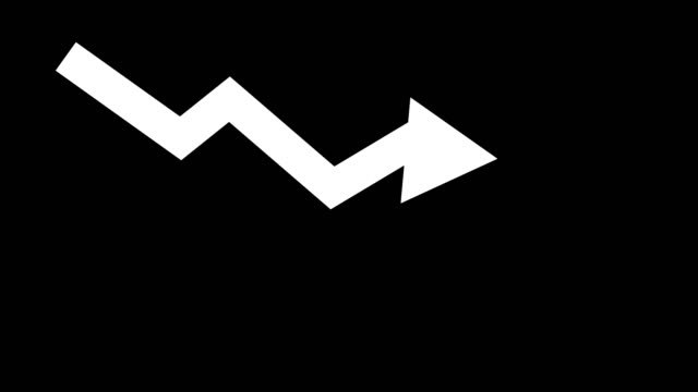 arrow downward animated icon. economic simple moving arow stock video - scendere video stock e b–roll