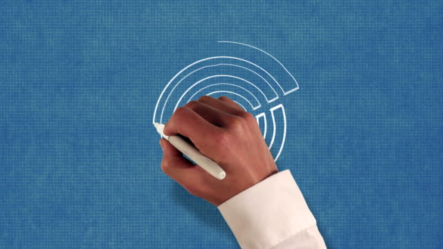 Arrow Hits Target Bullseye Blueprint Stop-Motion Style Animation video
