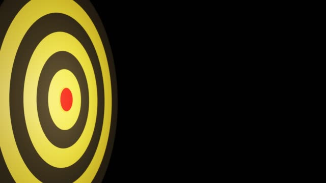 Arrow hitting in the target center of bullseye for Business focus concept