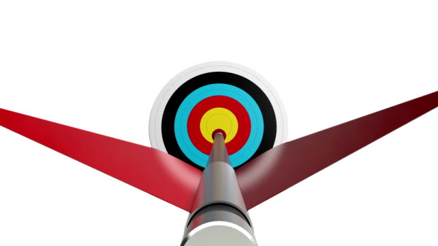 Arrow Hitting the Center of Target