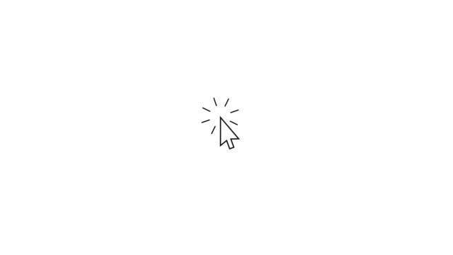 arrow pointer moving into frame and clicking. - arrow filmów i materiałów b-roll