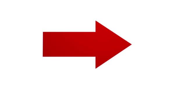 arrow pointing and spinning on white background - arrows stok videoları ve detay görüntü çekimi