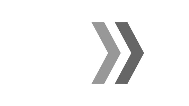 siyah veya beyaz arka planda oklar animasyon. hareket grafik tasarımı. alfa luma. 4k video - arrows stok videoları ve detay görüntü çekimi