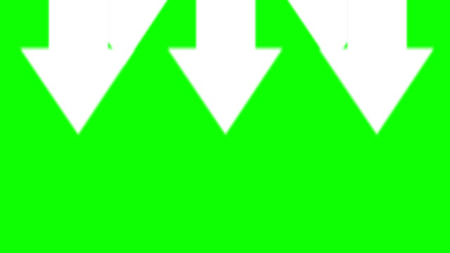 arrows pointing down against green background - arrow bildbanksvideor och videomaterial från bakom kulisserna