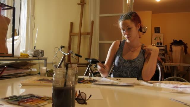 Art Class. Fashion Students Drawing Women's Fashions video