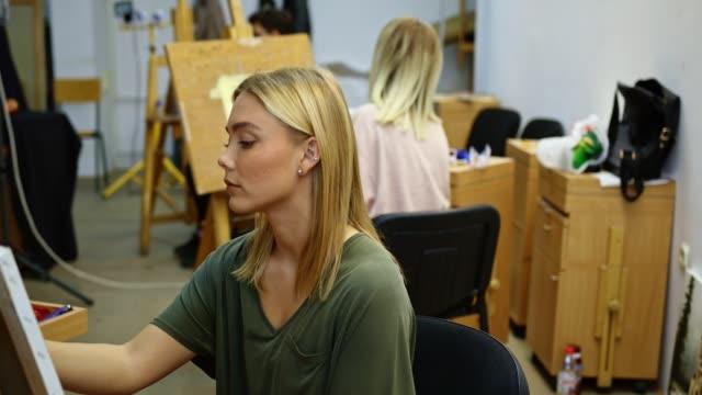 Art Class Students video