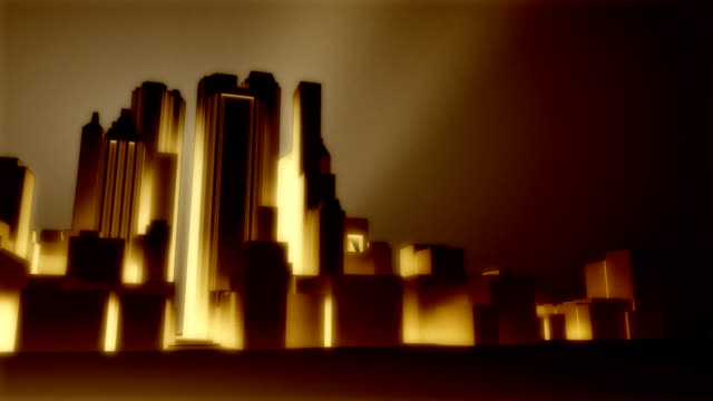 art deco city background - art deco architecture stock videos & royalty-free footage