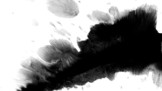 墨蹟飛濺的藝術 - 流動 個影片檔及 b 捲影像