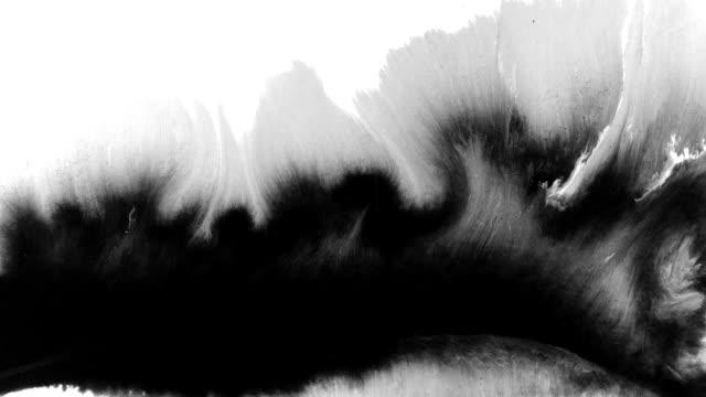 konsten att bläck splatter - kontrastrik bildbanksvideor och videomaterial från bakom kulisserna