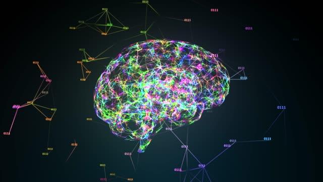 AI Artificial intelligence big data digital robotic brain deep learning video