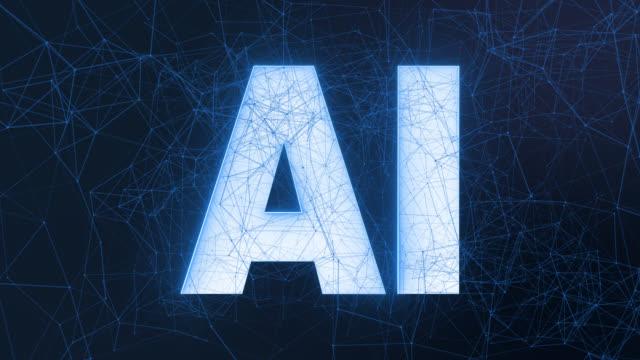 AI - Artificial Intelligence - Deep Data Machine Learning 4k. Conceptual 3D animation of digital Ai artificial intelligence concept.