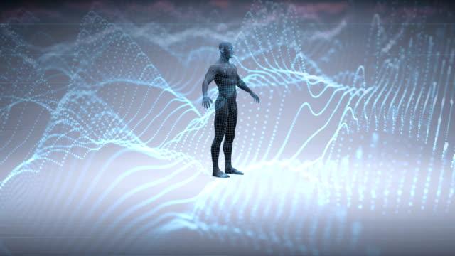 vídeos de stock e filmes b-roll de artificial intelligence - cérebro humano