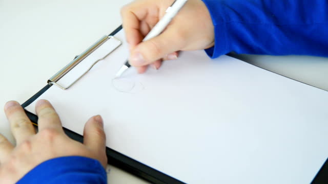 Artist Drawing on Paper video