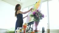 istock Artist Painting at Home in Studio Apartment 1181260241