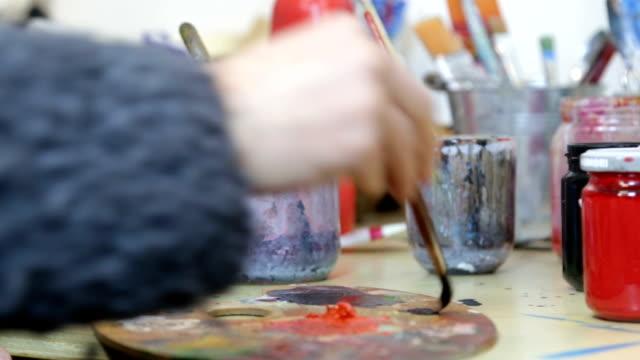 Artist Painting - Paintbrush On Palette