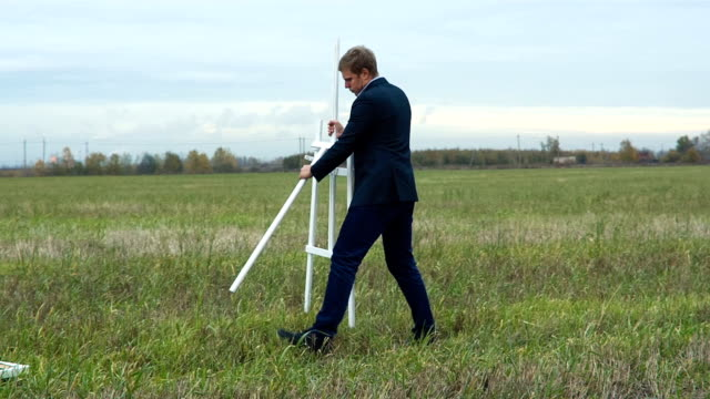 Artist Puts His Easel To The Ground video