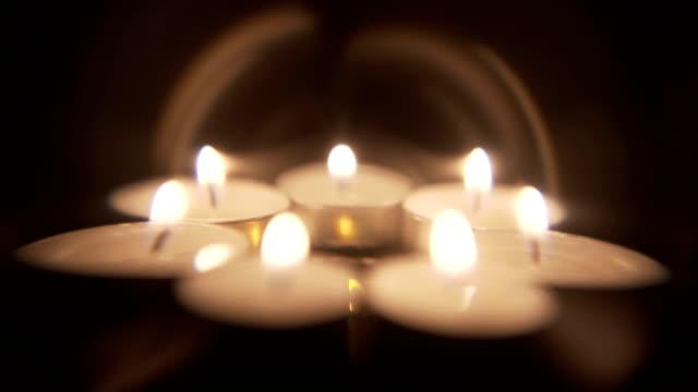 artistic candle background - jesus christ filmów i materiałów b-roll