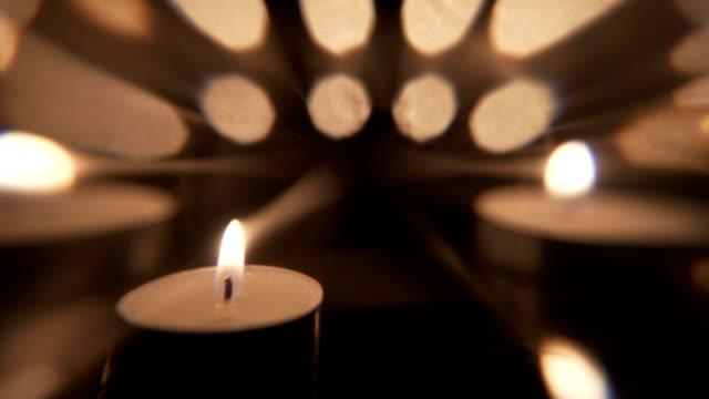 artistic candle motion background - jesus christ filmów i materiałów b-roll