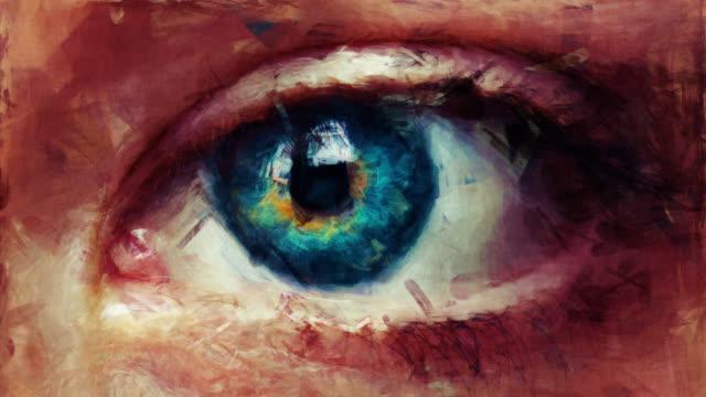 vídeos y material grabado en eventos de stock de mirada artística - parte del cuerpo humano