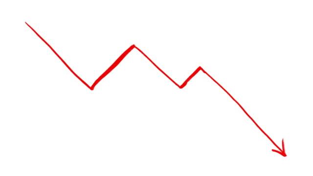 artwork animation of falling chart