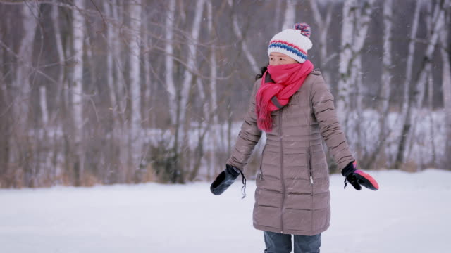 Asain Woman Freezing On Cold Day Asain woman freezing on a cold winter day. shivering stock videos & royalty-free footage