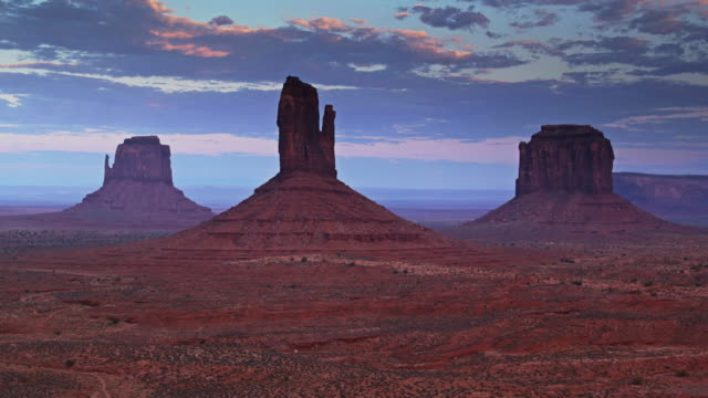 Ascending Drone Shot of Mitten and Merrick Buttes, Monument Valley - video