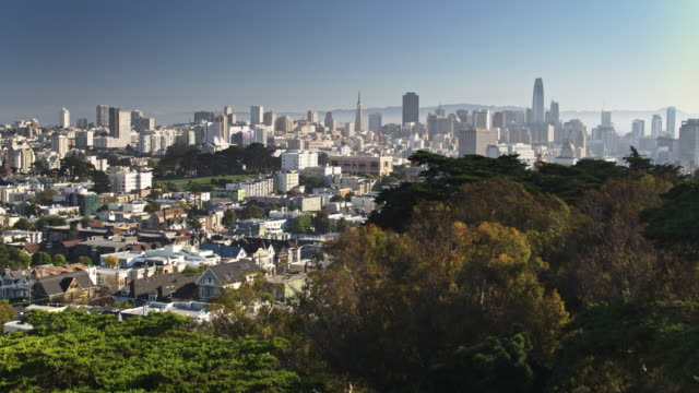 Ascending Drone Shot of San Francisco from Upper Haight video