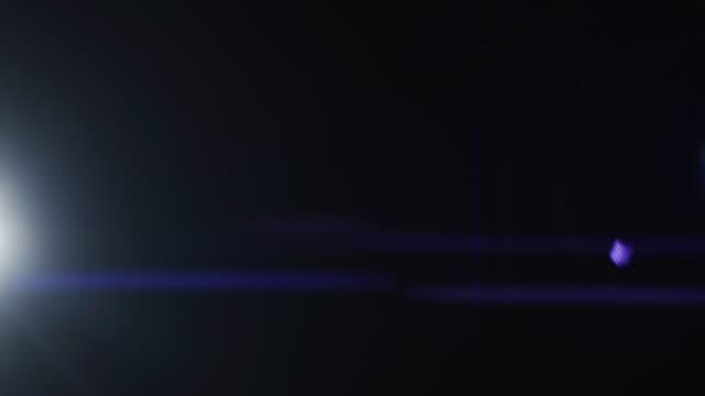 Ascending White Light Makes Colorful Anamorphic Reflection on Screen. Light Transition, Prism Effect, Light Leaks. Real Lens Flare that is Easy to Use in Blend / Overlay Modes. video