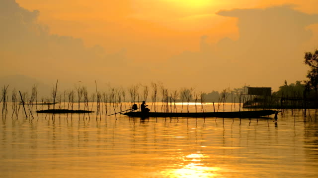 asia fiskare i tidiga morgonen gyllene ljus gjutning sugga netto fisk - meta bildbanksvideor och videomaterial från bakom kulisserna