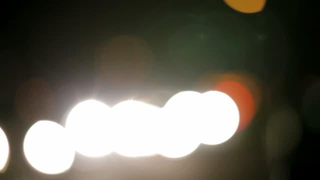 Asia night time. Graphic shot of Kathmandu traffic. video