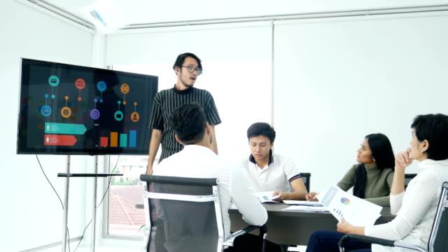 アジア ビジネス怒りの感情と現在の事業計画。人々 の働く概念。 - 悩む点の映像素材/bロール