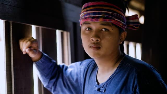 asian farmer in countryside. - myanmar video stock e b–roll