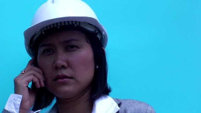 Asian female builder video