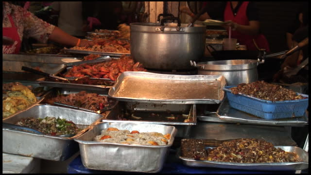 HD: Asian Food Selection, Buffet, Smorgasborg video